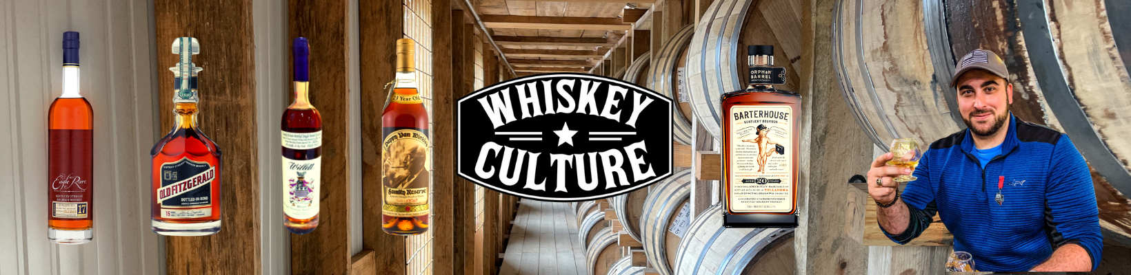 A picture of rare whiskey bottles and greg sinadinos from whiskey culture drinking bourbon