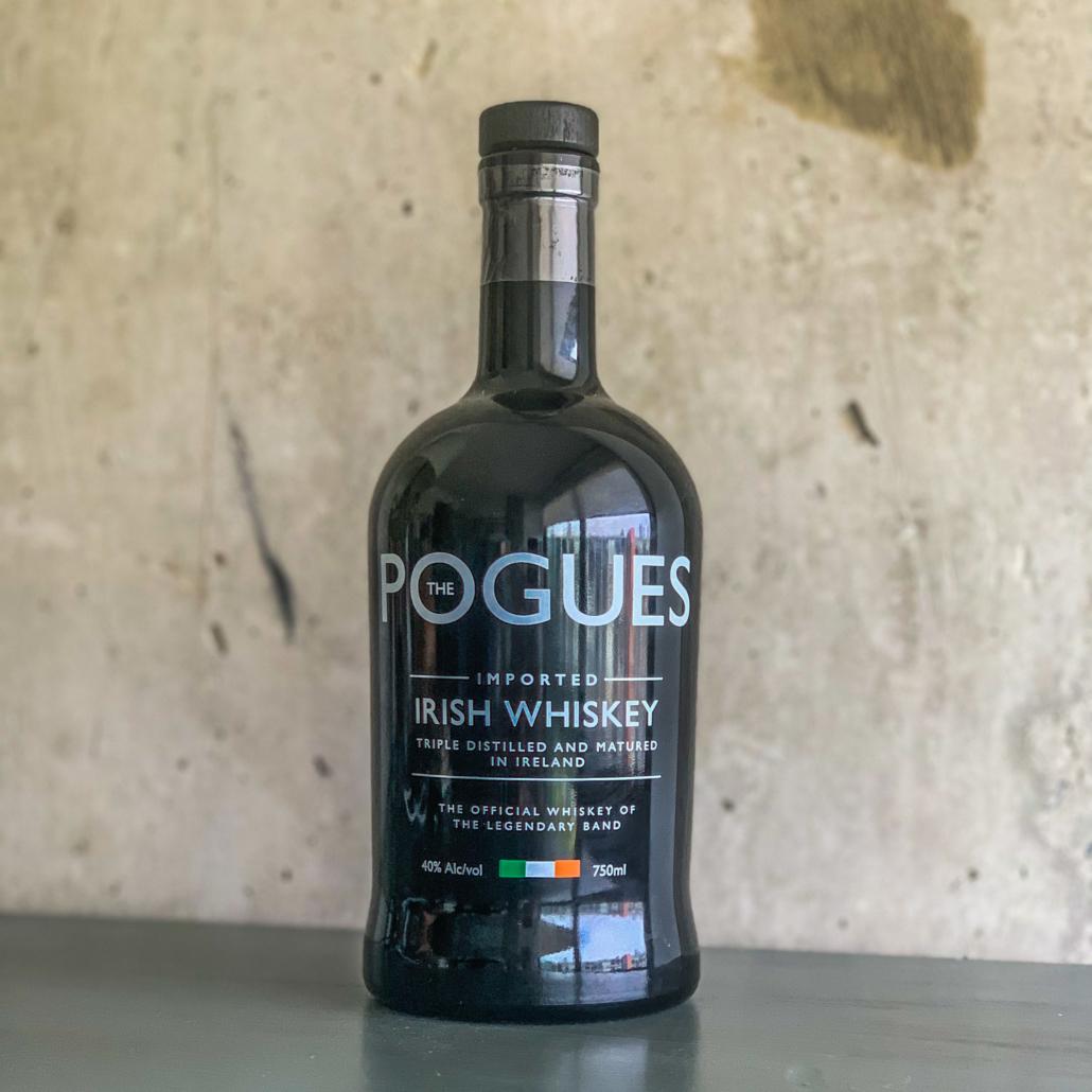 A bottle of Pogues Irish Whiskey